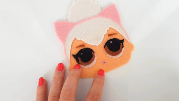 Кошелёк из фетра - куколка Лол Китти