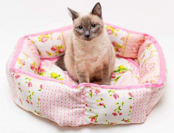 Круглая лежанка для кошки - мк