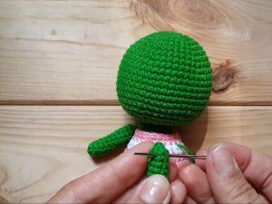 Как сшивать детали игрушки и как пришивать лапы нитяным креплением
