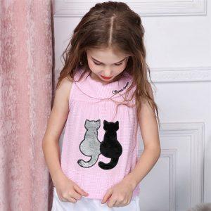Как украсить футболку - аппликация и вышивка гладью Коты!